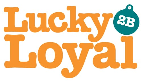 lucky to be loyal rewards program logo